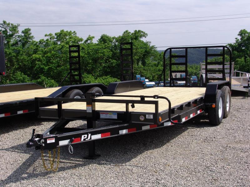 2018 PJ CC 20' Flatbed Trailer 14000 GVW Heavy Duty Ramp Gate