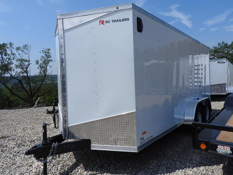 "2020 RC Trailers RWT 7' x 16' w/ 6"" Extra Height Enclosed Cargo Trailer"