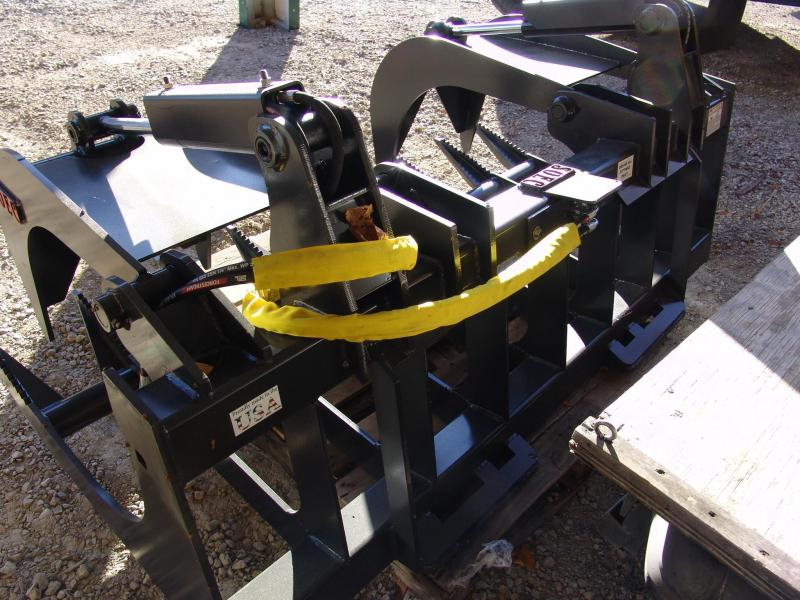 """Gooseneck Dump Trailer With Grapple >> SOEC 72"""" HD Root Grapple Flat Faced Couplers 