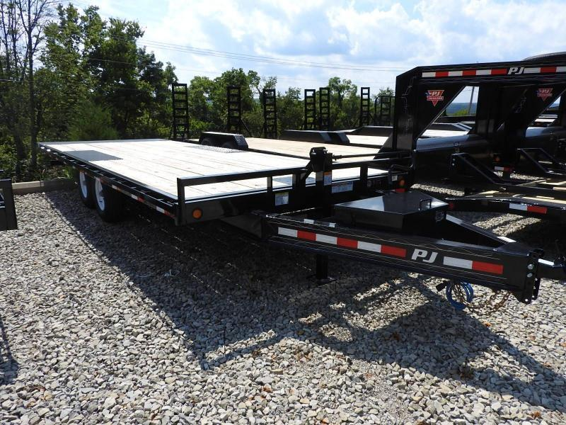 "2020 PJ T8 22' x 102"" Deckover Tilt w/ Winch Plate Flatbed Trailer"