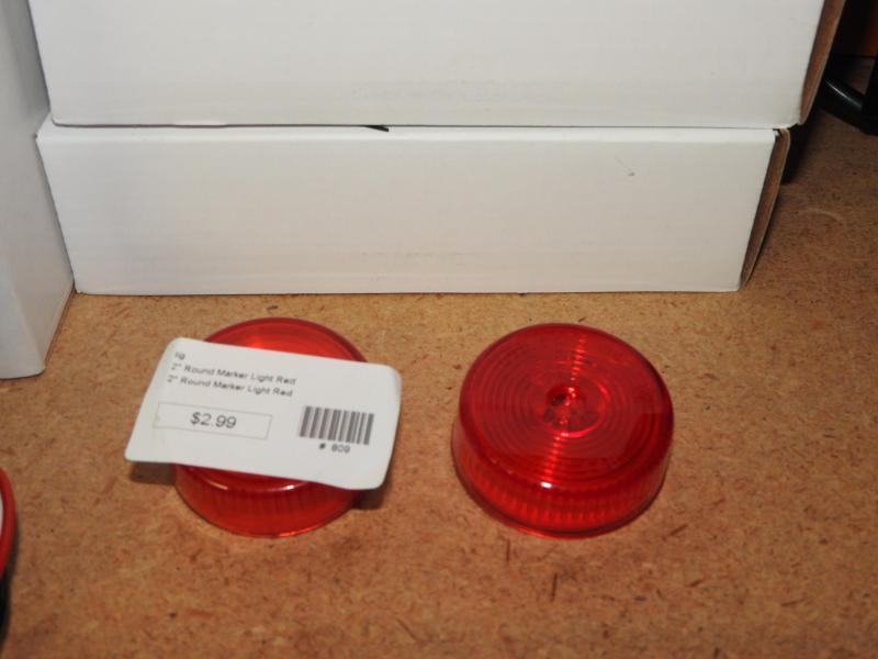 """2"""" Round Marker Light Red"""