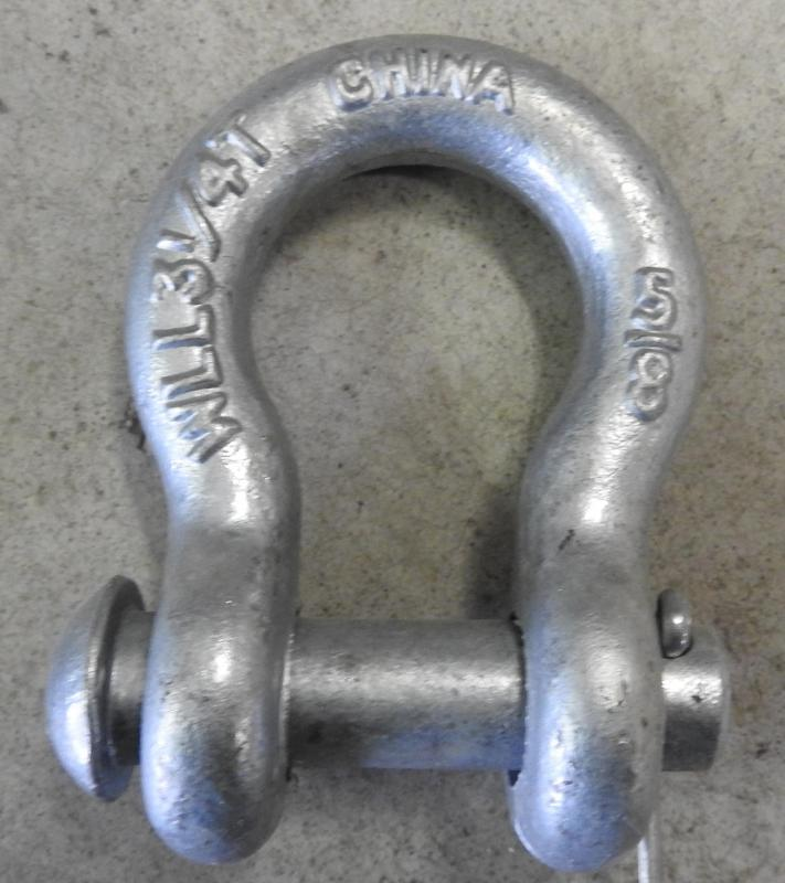 """1/2"""" Clevis Shackle 400# Galvanized"""