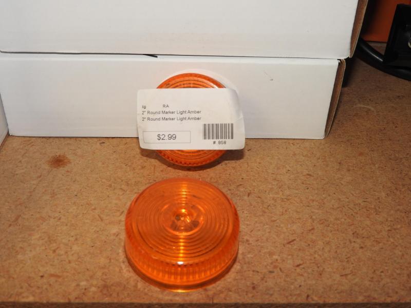 "2"" Round Marker Light Amber"