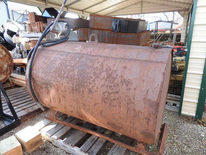 Hamilton Fuel Tank 275 Gallon Tank with Pump And Skid Mounted - Tank #3