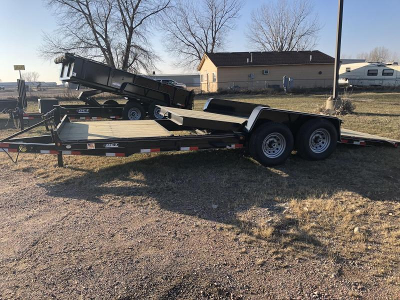 2019 DCT ST21-14 TILT 21.5 (16TILT 5.5 STATIONARY) Equipment Trailer