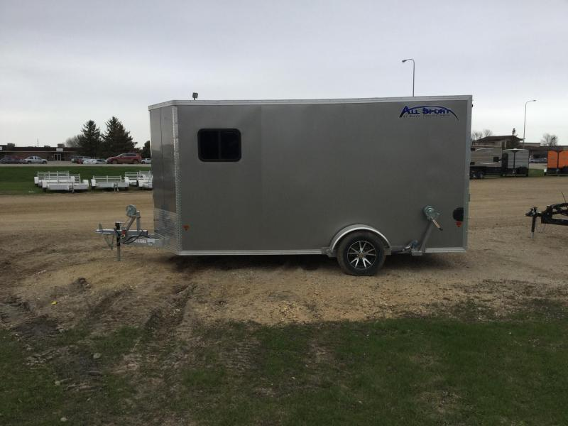 2018 Alcom-Stealth 6.5x14 All Sport Ice/Fish House Trailer