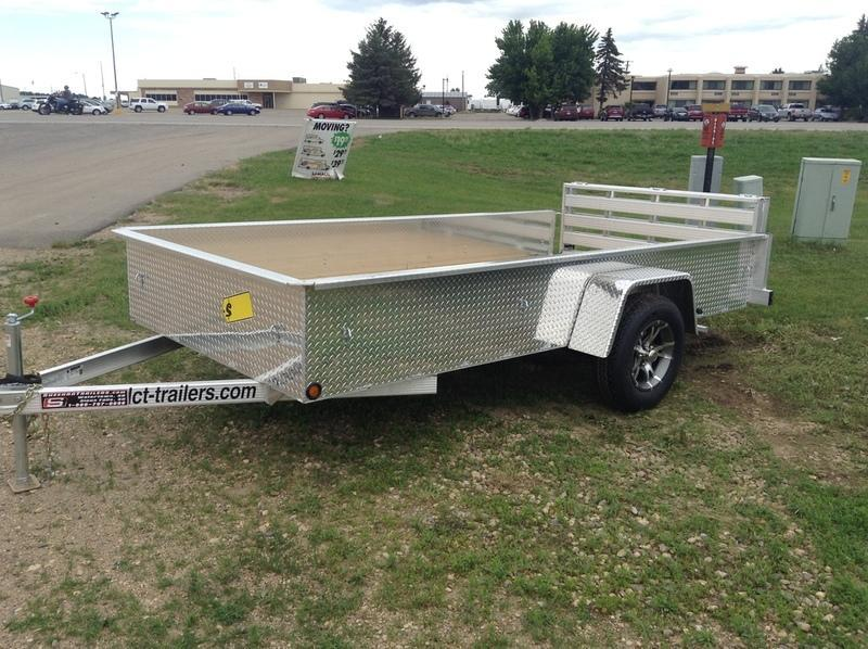 "2017 DCT-Trailers 17"" Sided Aluminum Trailer A612SE"