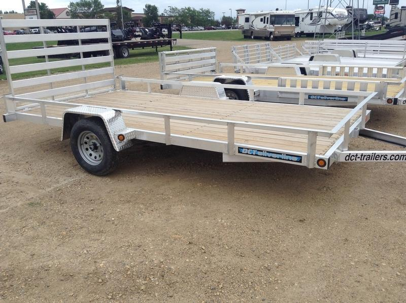 2018 DCT-Trailers Aluminum Utility w/rail AS8314R