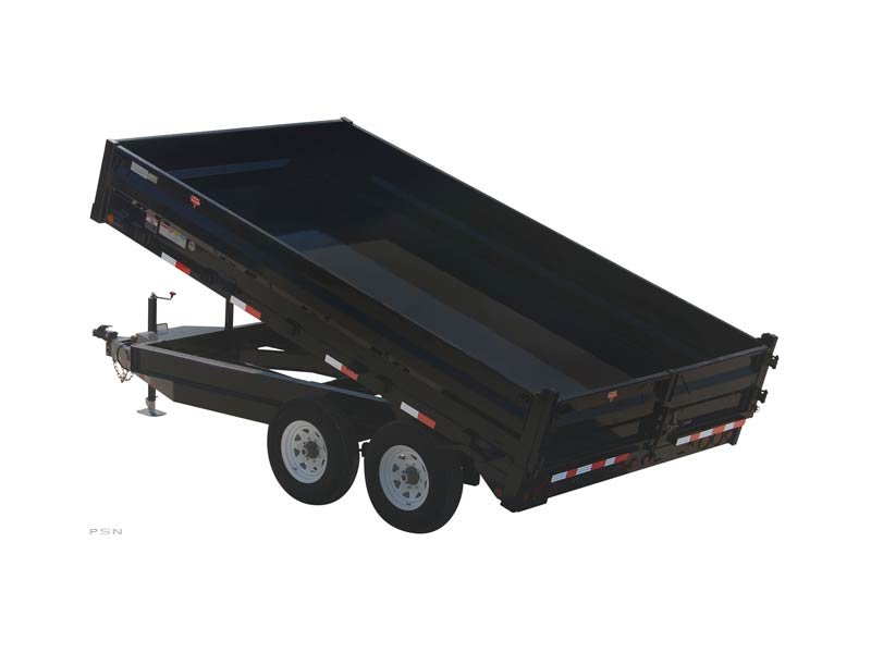 PJ Trailers 96 in. Deckover Dump (D8)
