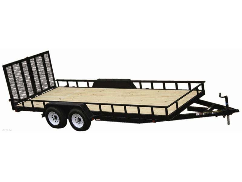 Carry-On 7X18HDLAND - 10,000 lbs. GVWR Tandem Wood Floor