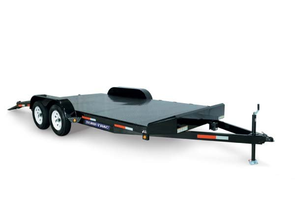 2017 Sure-Trac 7 x 18 Steel Deck Car Hauler, 7k