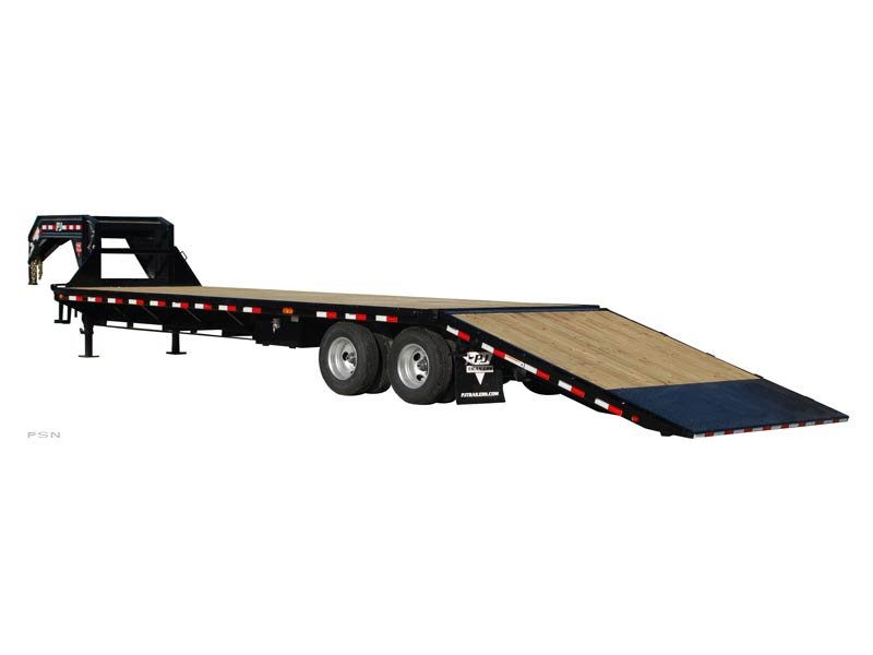 PJ Trailers Flatdeck with Hydraulic Dove (FY)