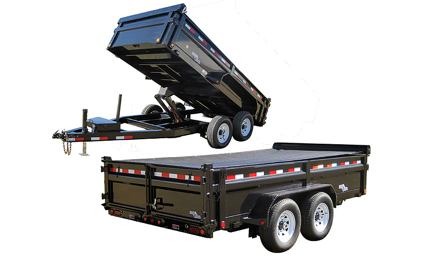 "2015 Load Trail 83"" x 16' Low Pro Tandem Axle Dump (with scissor lift)"