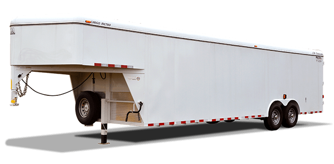 "CM Trailers Cargo Metro 26' x 7'10"" x 6'6"" w/ 2-7000# axles, 16"" tires & 8-hole wheels"