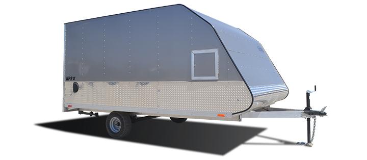 2018 Cargo Express Aluminum Apex Snow Trailer Snowmobile Trailer