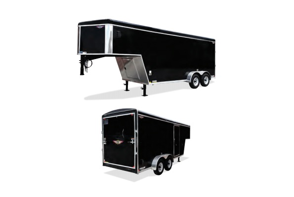 2019 H and H Trailer 8X18 TAND RTOP TL GNECK RNOSE 14K CARGO