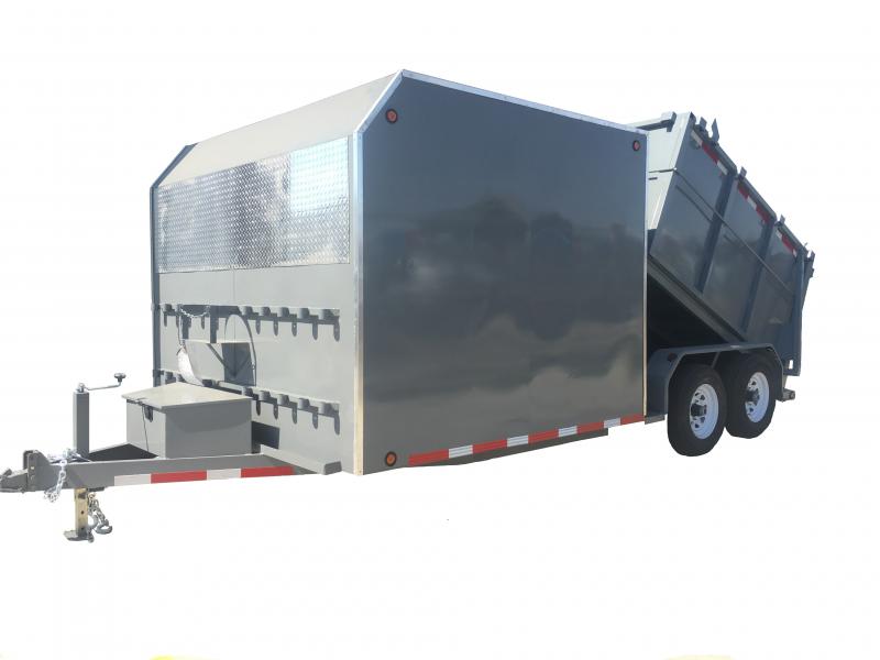 R & J Trailers Inc 8 x 15 Custom Enclosed Dump