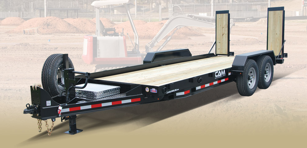 2018 Cam Superline 7 Ton Equipment Hauler Angle 8.5 x 18