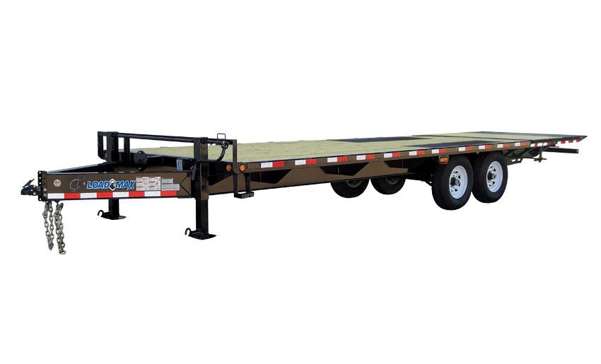 """2017 Load Trail 102"""" x 26' Heavy Duty Pintle Hook 2-7000 lb Axles w/Hyd. Dove"""