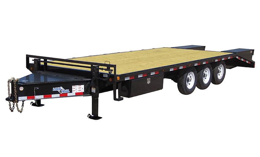 "2019 Load Trail 102"" X 25' Triple Heavy Duty Pintle Hook Equipment Trailer"