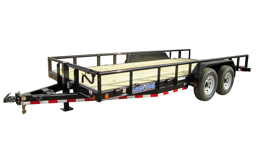 "2016 Load Trail 83"" X 16' Tandem Carhauler w/6"" Channel Frame & Side Rails"