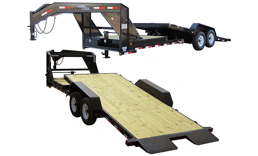 "Load Trail GG14 - Gooseneck Tilt Deck Gravity 81.5"" x 18"