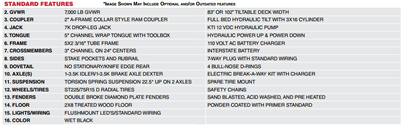 "MAXXD T5X - 5"" Power Equipment Tilt Trailer"