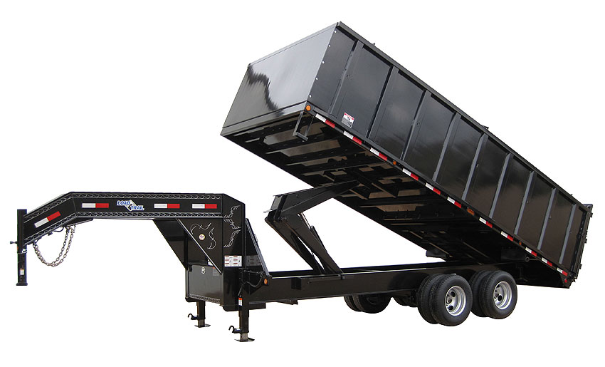 Load Trail GX30 - Tandem Heavy Duty Gooseneck Dump Deck Over