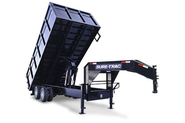 2020 Sure-Trac 96 IN x 14 Deckover 14K Scissor Dump