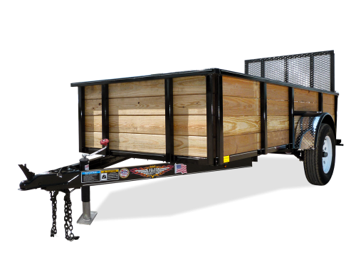 2018 H and H Trailer 5(60)X8 WOOD-SIDE ALUM 3K
