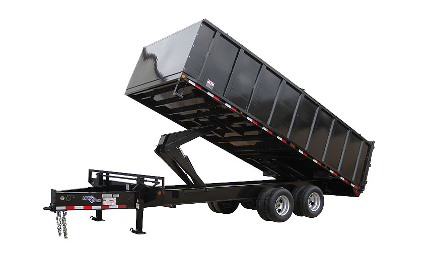 "Load Trail PX30 102"" x 18' Tandem Heavy Duty Pintle Hook Dump Deck Over"