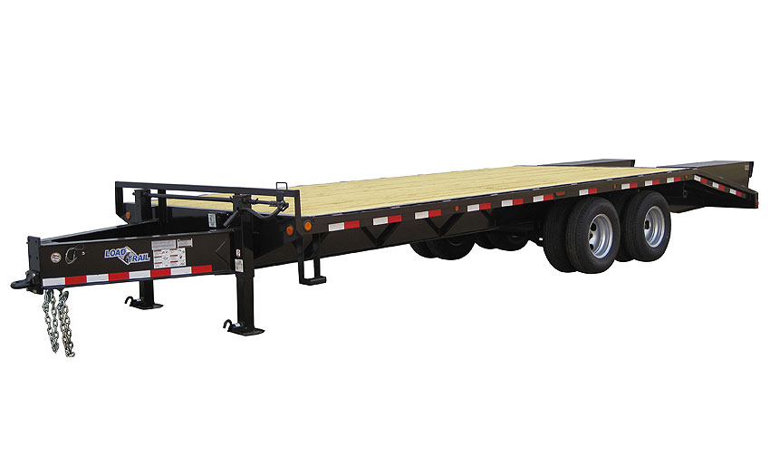 "2018 Load Trail 102"" X 25' Tandem Heavy Duty Pintle Hook Equipment Trailer"