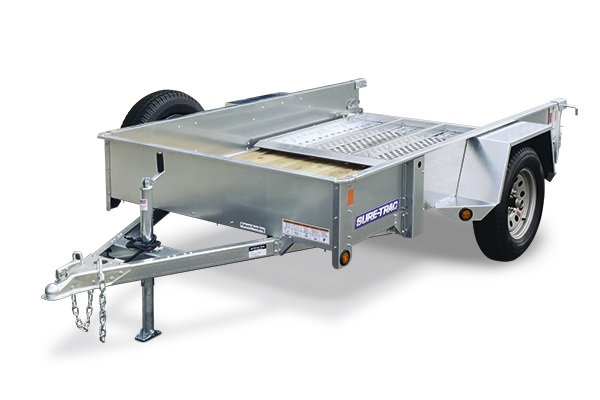 2019 Sure-Trac 5 x 10 Galvanized High Side, 3k Idler