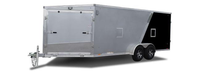 2018 Cargo Express Ax 7' Wide V Front Flat Top Snowmobile Trailer