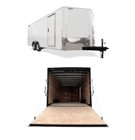2018 H and H Trailer 101X24 TL F-TOP CARHAUL VNOSE 16K CARGO