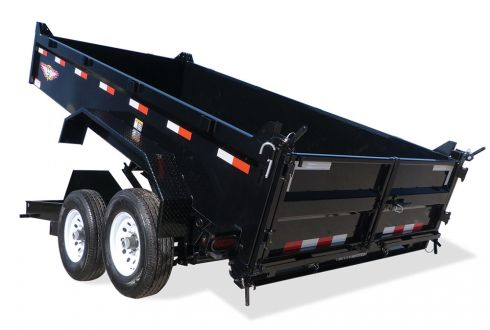 2018 H and H Trailer 83X14 DBW DUMP BOX 14K