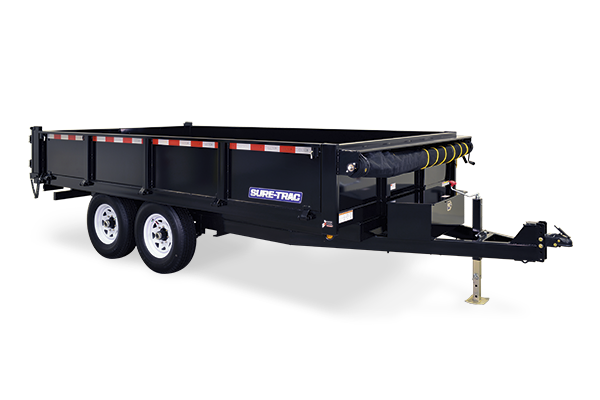 2018 Sure-Trac 96 IN x 14 Drop Side Deckover 14K Scissor Dump