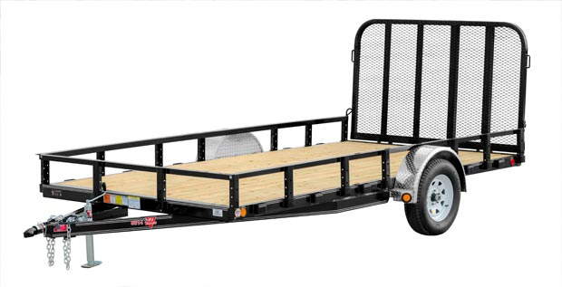 PJ Trailers 83 in. Single Axle Channel Utility (U8)