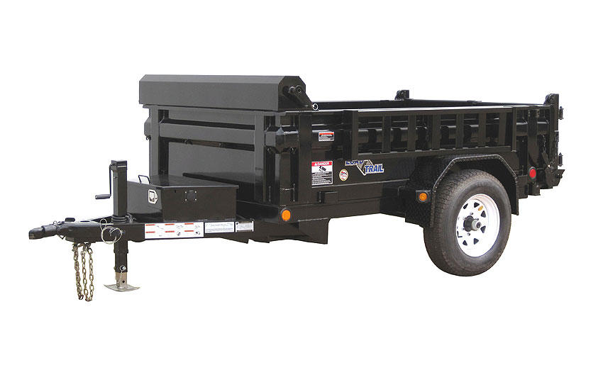 2019 5x10 SA Dump Load Trail - 3-Way Gate - Side Mount Ramps - Tarp Kit (GVW:  5080)