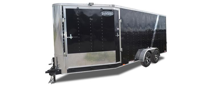 2019 Cargo Express Yukon 7 Wide Flat Top Snowmobile Trailer