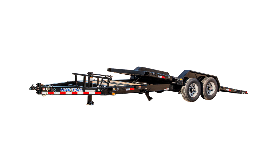 2019 83x20(4' Stationary + 16' Tilt) Load Trail TD Tilt-n-go Tandem Axle Equipment Trailer - (GVW: 14000)