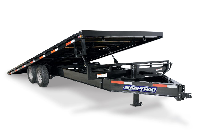 Sure-Trac 8.5 x 24 + 4 22.5K HD Low Profile Power Tilt Deckover
