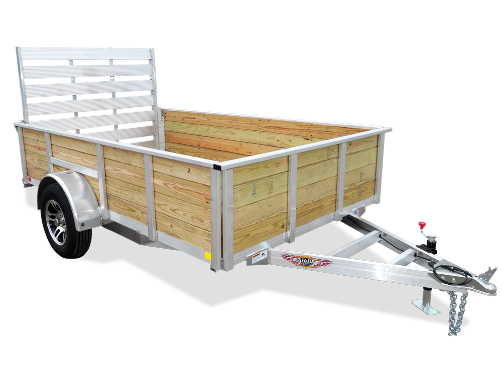 2018 H and H Trailer 6X12 WOOD-SIDE ALUM 3K