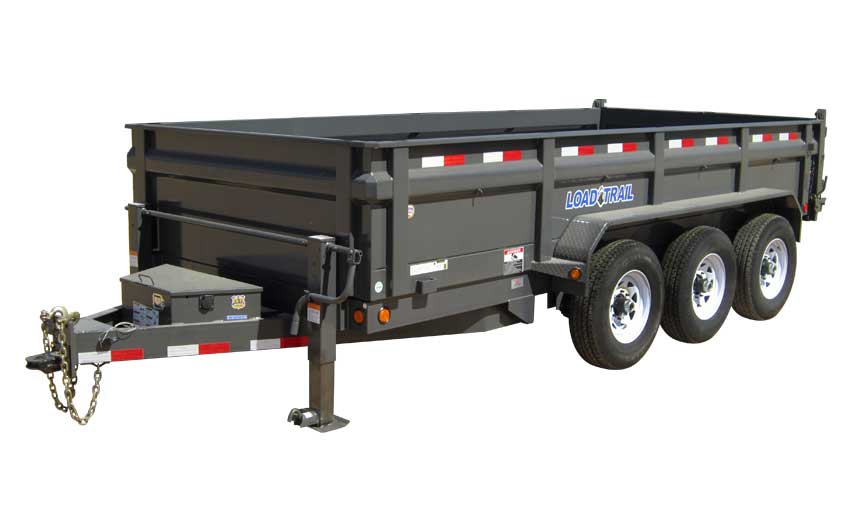 "2019 Load Trail 96"" X 16' Triple Axle Pintle Hook Deck Over Dump Dump Trailer"