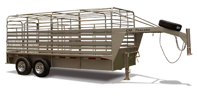CM Trailers Brushbuster ES 20′ x 6'8″ x 6'6″ w/ 2-6000# axles, 16″ tires & 8-hole wheels