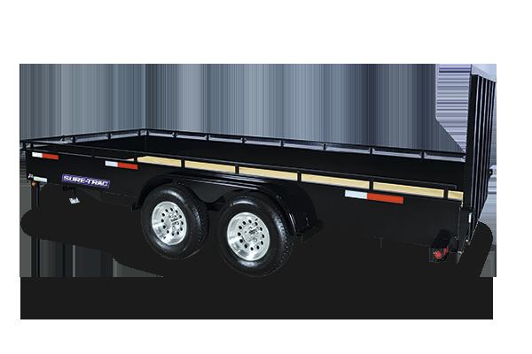 2017 Sure-Trac 7 x 16 Steel High Side, 7k Tandem
