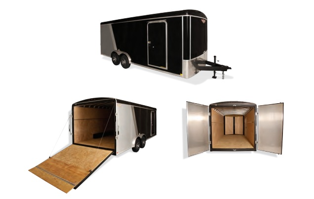 2019 H and H Trailer 101x20 TANDEM RND TOP TL VNOSE 10K CARGO