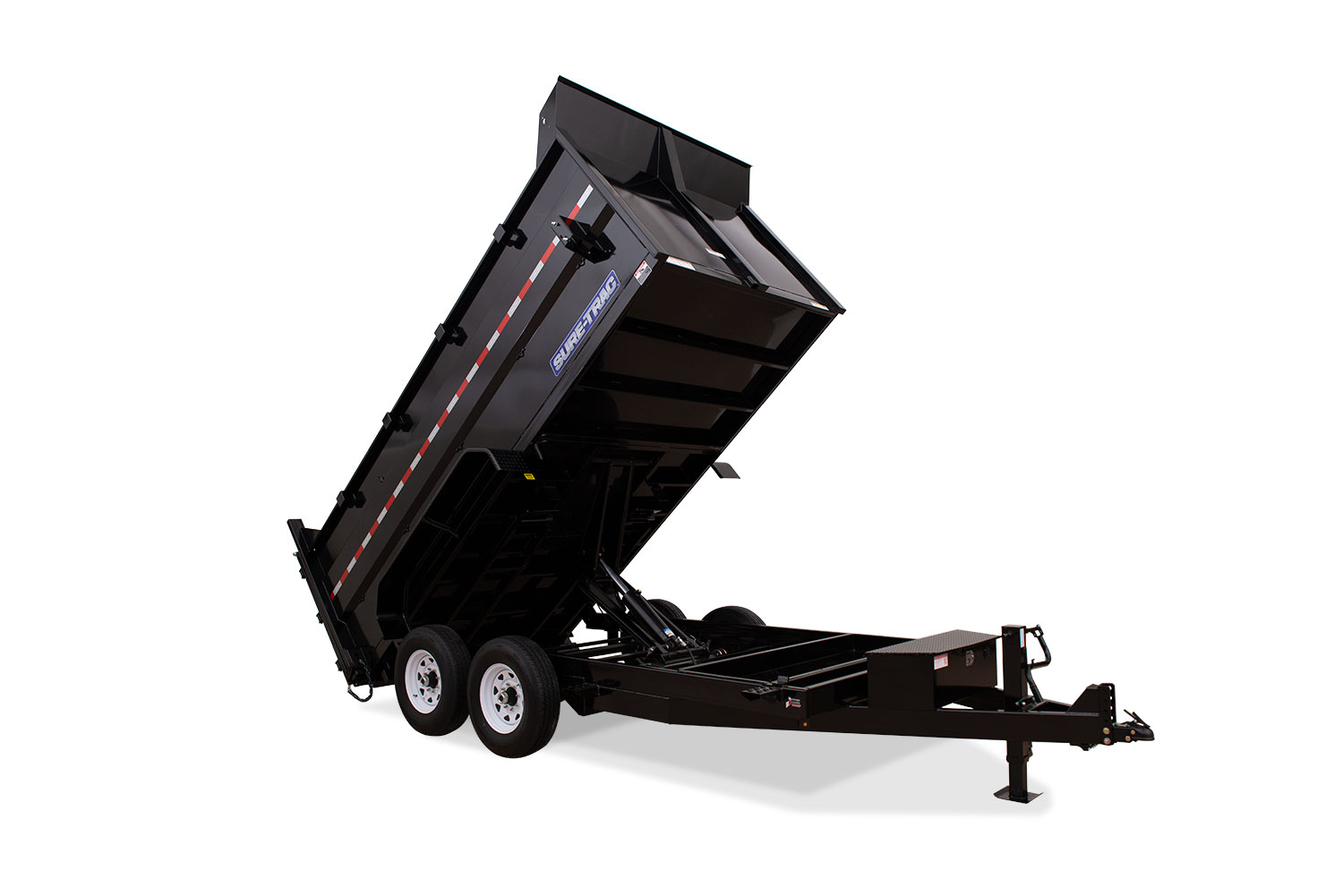 Sure-Trac 82 x 16 14K HD Low Profile Dump w/ 4ft. Sides (Scissor)