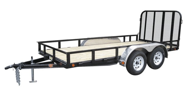 PJ Trailers 77 in. Channel Utility (U7)