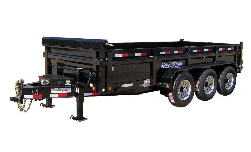 "2015 Load Trail 83"" x 16' Low Pro Triple Axle Dump (with scissor lift)"
